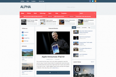 Alpha-Magazine-Newspaper HTML шаблон