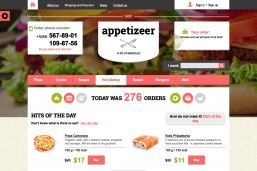 Appetizeer Food HTML шаблон