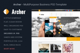 Archer-Business PSD шаблон