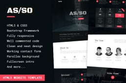 Asso-One-Page HTML шаблон