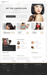 Beauty-Salon Spa WordPress шаблон