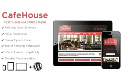 CafeHouse Restaurant WordPress шаблон
