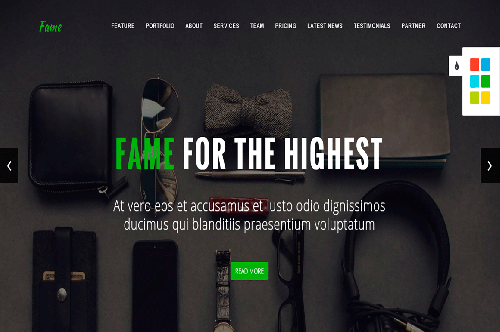 Fame Business Onepage HTML