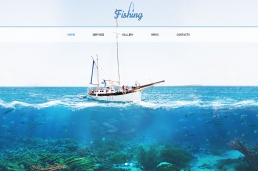 Fishing One-Page HTML шаблон