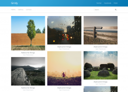 Gridy photo grid HTML галлерея
