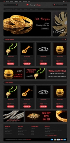 Grocery-Jewelry E-Commerce Bootstrap шаблон