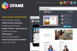 oFame-Application лендинг страница