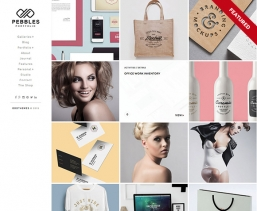 Pebbles Portfolio Blogger шаблон