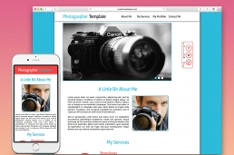 Photographer Muse HTML шаблон
