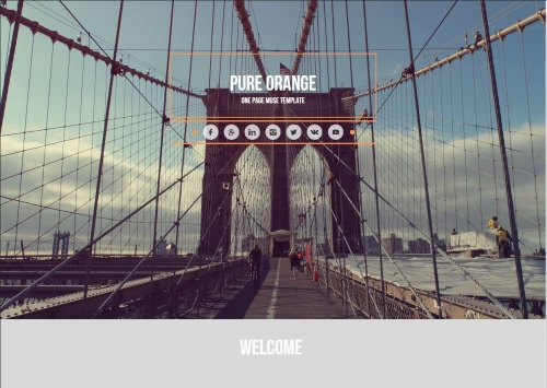 Pure-Orange HTML/MUSE шаблон