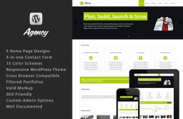 Responsive WordPress ThemeAgency