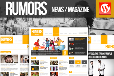 Rumors NewsMagazine WP шаблон
