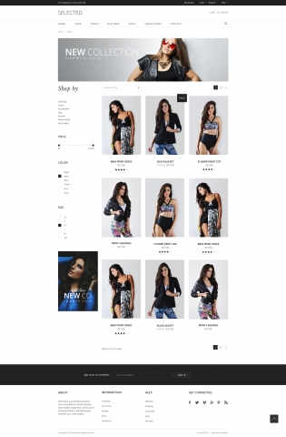 SELECTED Ecommerce PSD шаблон