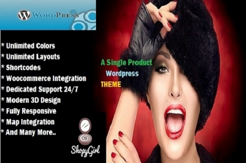 ShopyGirl- A Single Product 3D тема