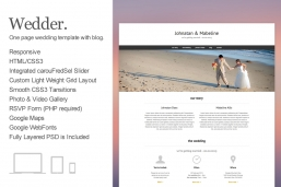 Wedder One Page HTML шаблон